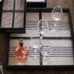 Wood Framed Textile Tray