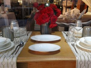 Roses and a Dining Table
