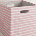 Pink Striped Bin