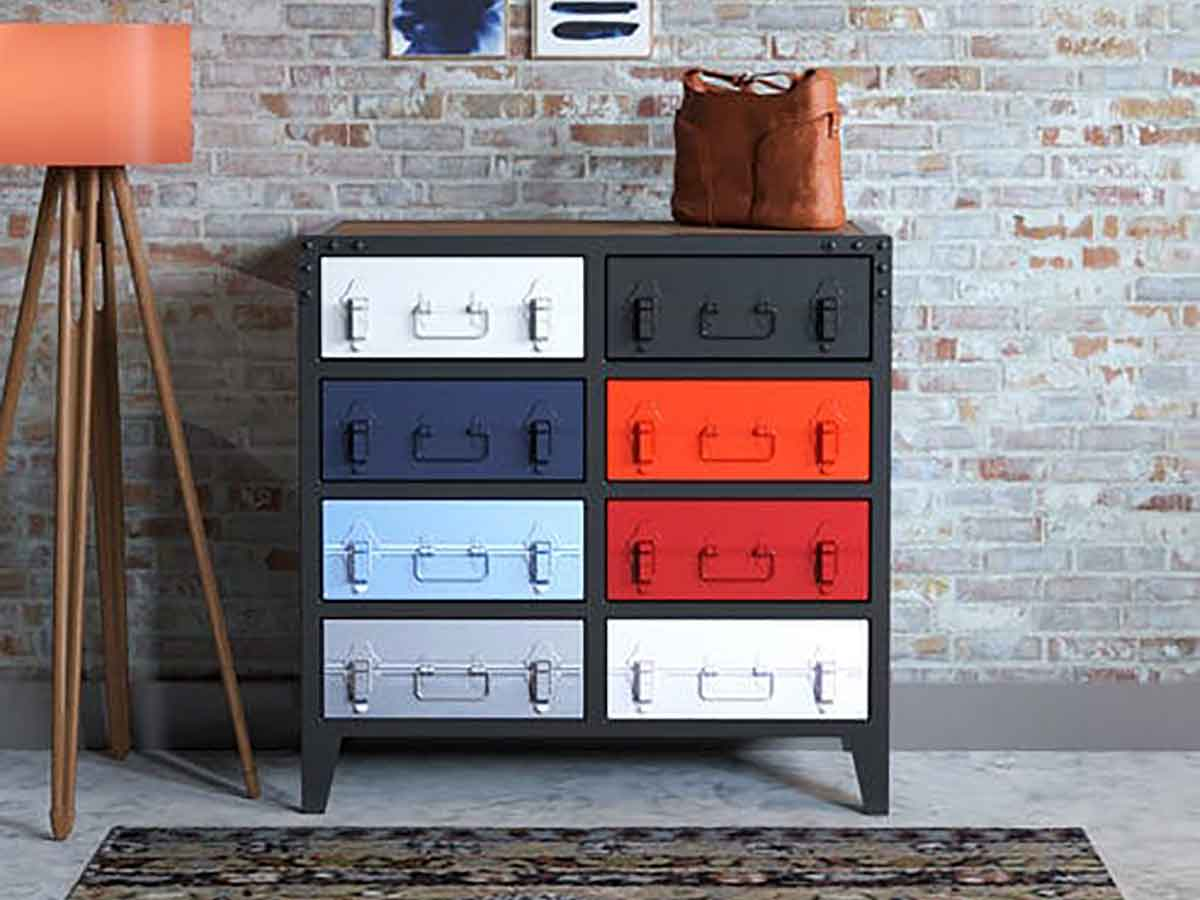 Drawers in Multi-Colour Polish