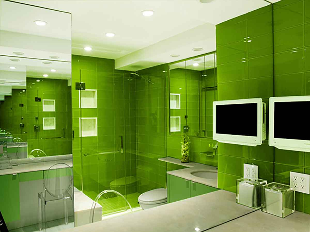 Monochromatic Bathroom Design