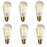 60 Watt Antique-Style Edison Light Bulb Set of 6