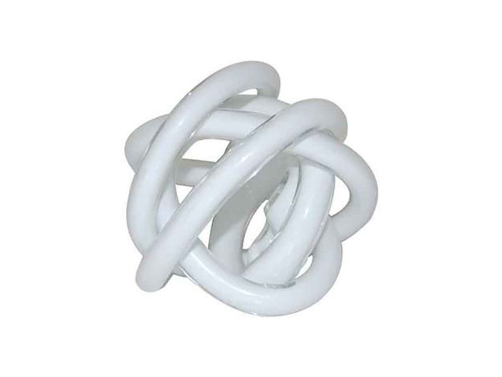 White Glass Swirl Ornament