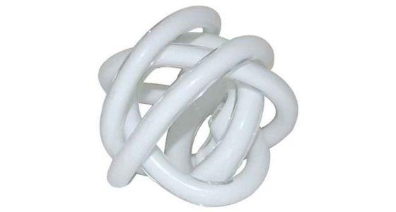 White Glass Swirl Ornament