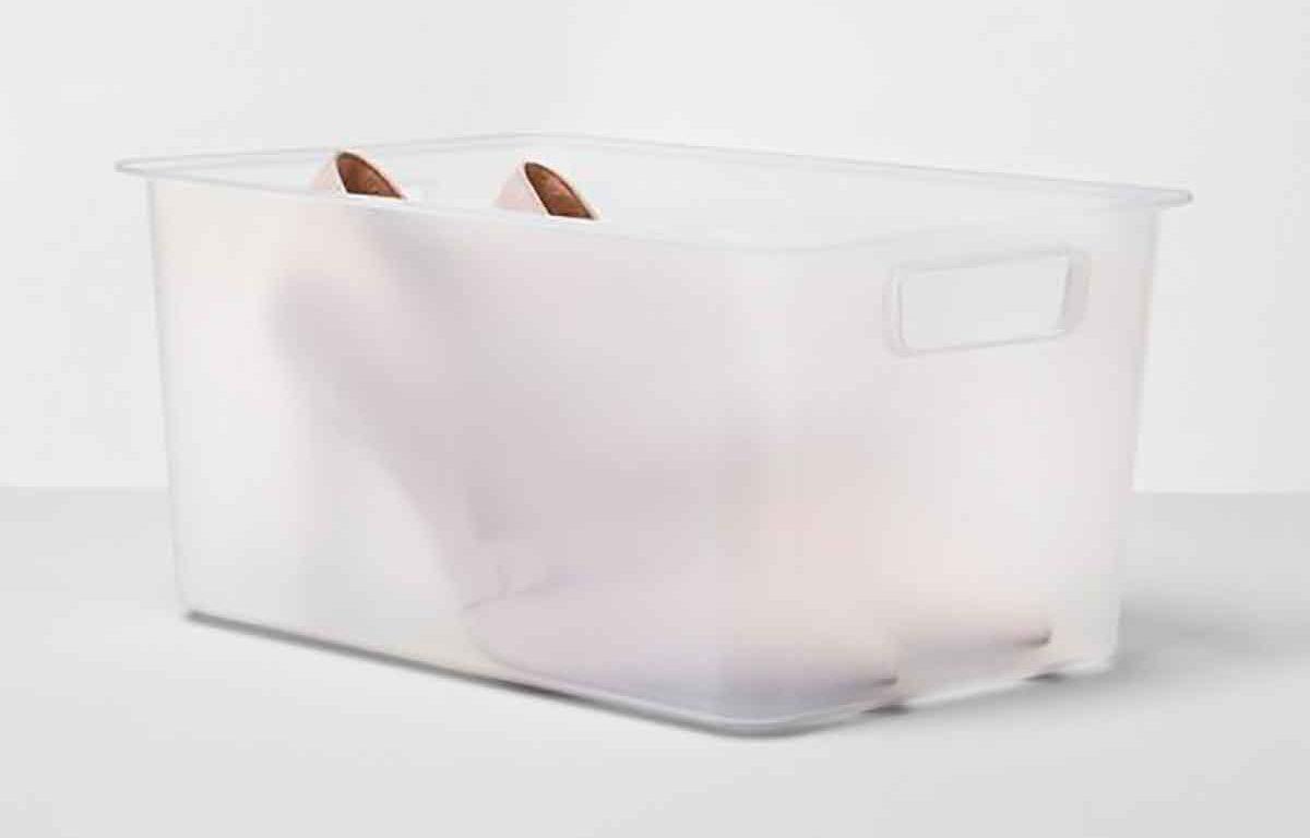 Plastic Shoe Bin Clear