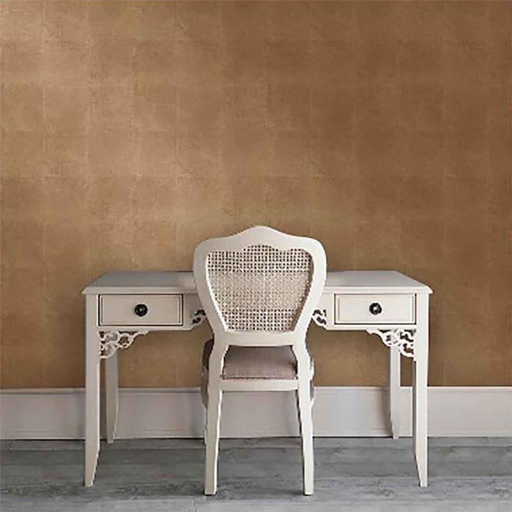 Metallic Leaf Peel and Stick Wallpaper -Rose Gold